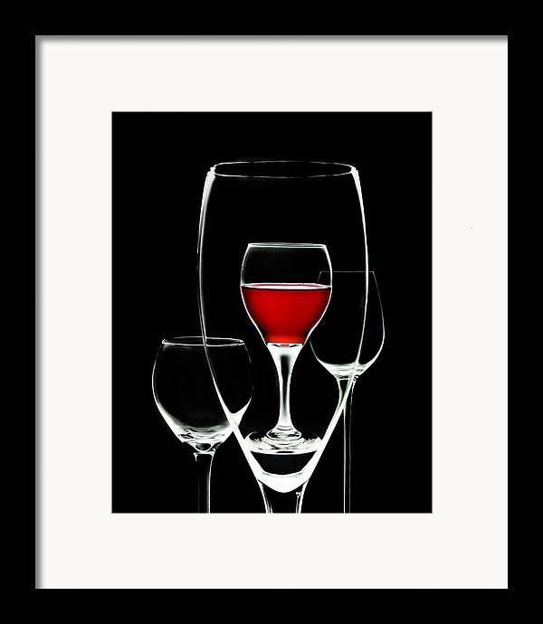 Wine Framed Print featuring the photograph Glass Of Wine In Glass by Tom Mc Nemar
