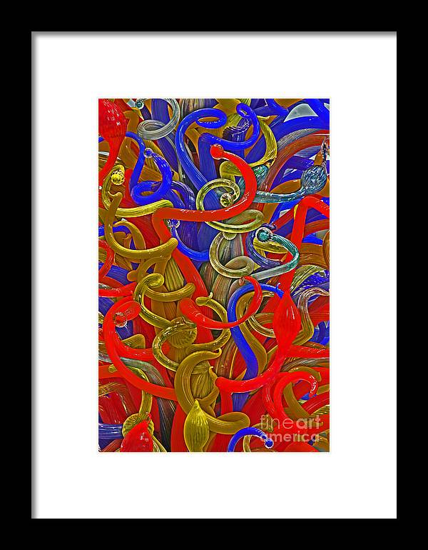 Glass Framed Print featuring the photograph Glass Sculpture A-la Monet by David Frederick
