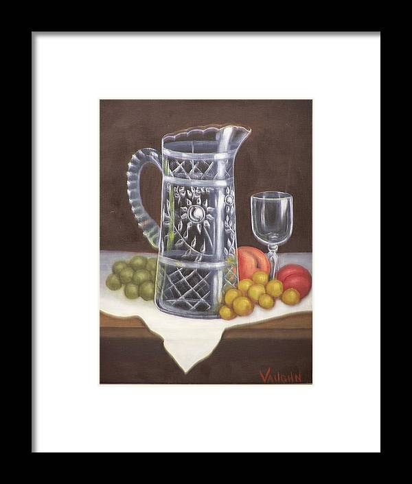 Still Life Framed Print featuring the painting Glass Study by Charles Vaughn