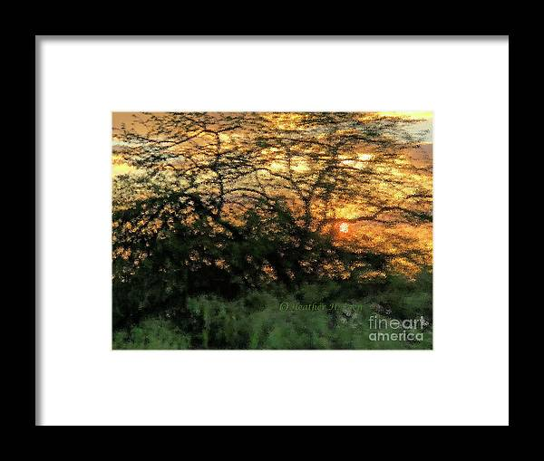 Sunset Framed Print featuring the photograph Glass Sunset Hawaii by Heather Coen