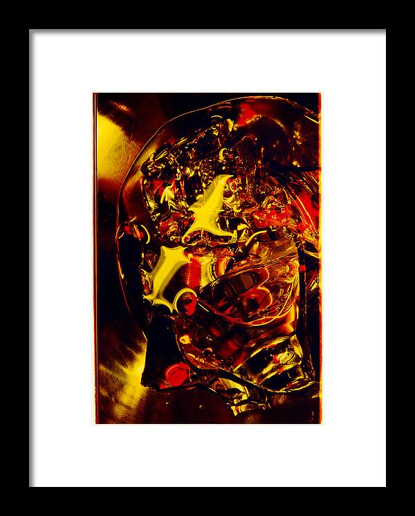 Abstract Framed Print featuring the photograph Glassman by David Rivas