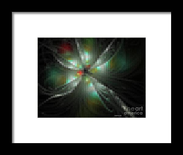 Fractal Framed Print featuring the digital art Glassworks Fractal by Deborah Benoit