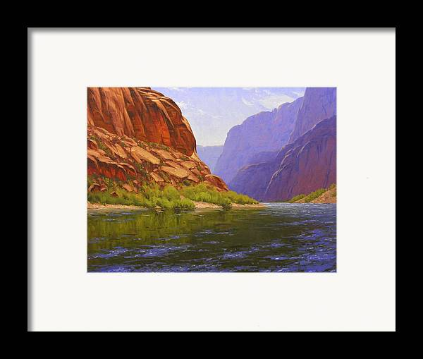 Cody Delong Framed Print featuring the painting Glen Canyon Morning by Cody DeLong