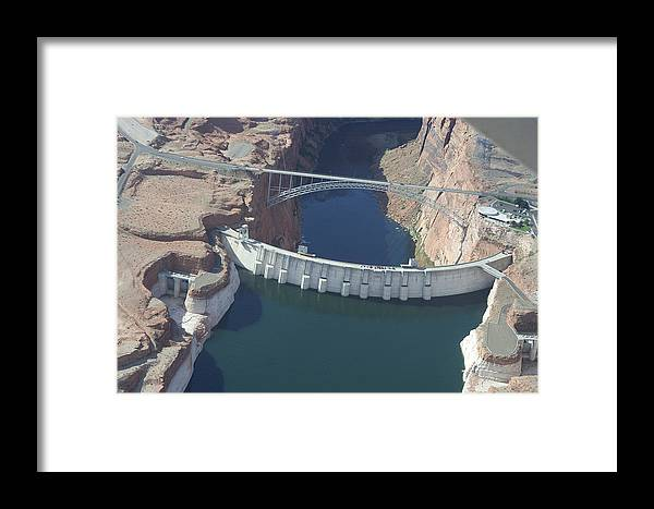 Colorado River Framed Print featuring the photograph Glen Echo Dam by Carl Purcell