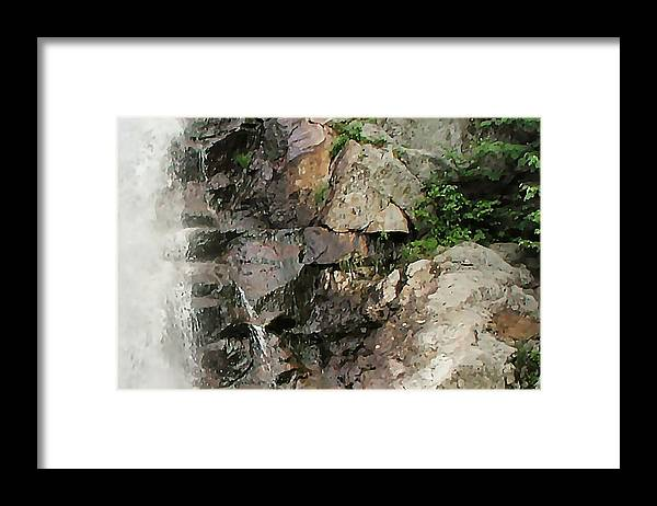 Waterfall Framed Print featuring the photograph Glen Falls Abstract by Dave Martsolf