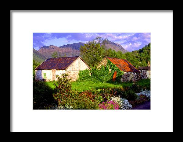 Scotland Framed Print featuring the photograph Glencoe Village by John McKinlay