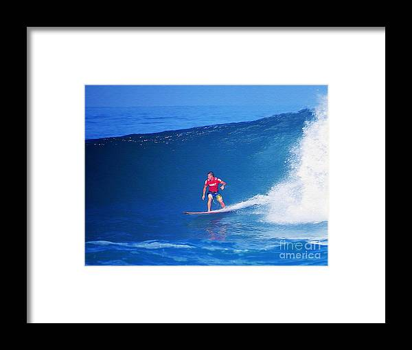 Professional-surfer-surfers Framed Print featuring the photograph Glenn Hall by Scott Cameron