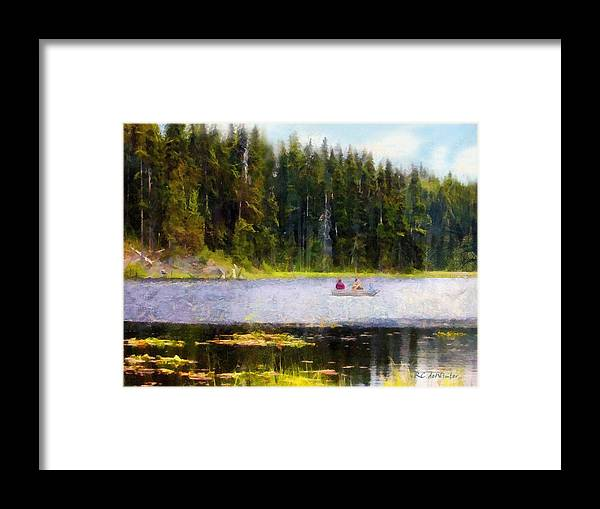 Boating Framed Print featuring the painting Gliding Along by RC DeWinter