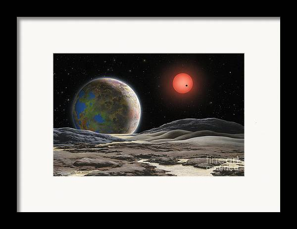 Lynette Cook Framed Print featuring the painting Gliese 581 C by Lynette Cook