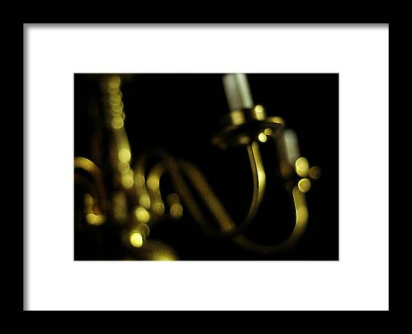 Brass Framed Print featuring the photograph Glimmer by Rebecca Sherman
