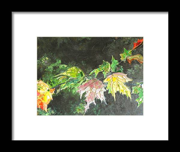 Acrylic Framed Print featuring the painting Glistening Fall by Cynthia Ann Swan