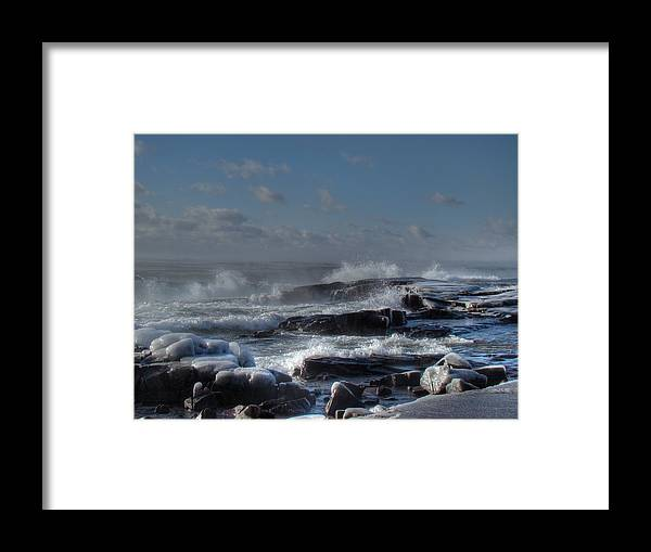 Lake Superior Framed Print featuring the photograph Glistening Sparkle by Tingy Wende