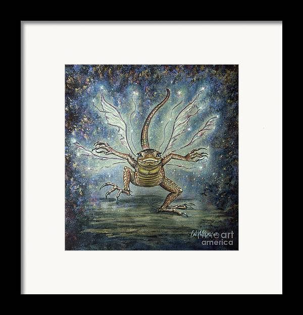 Fairy Framed Print featuring the mixed media Glitterkin by Carol Phillips