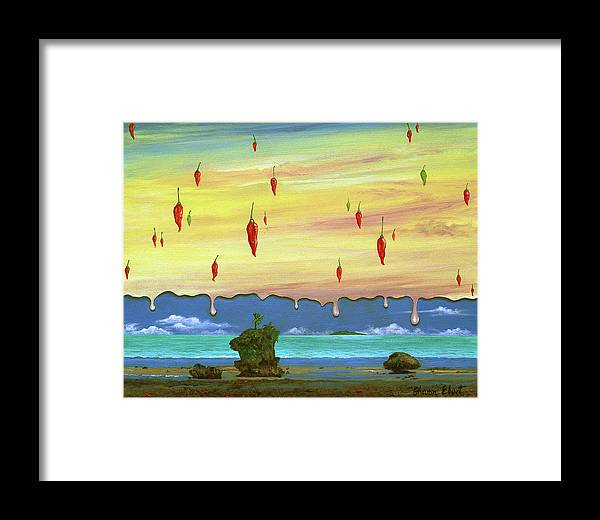 Surreal Painting Framed Print featuring the painting Global Meltdown by Sharon Ebert