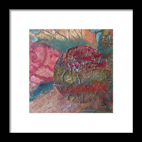Abstract Framed Print featuring the painting Global Series 1 by John Vandebrooke