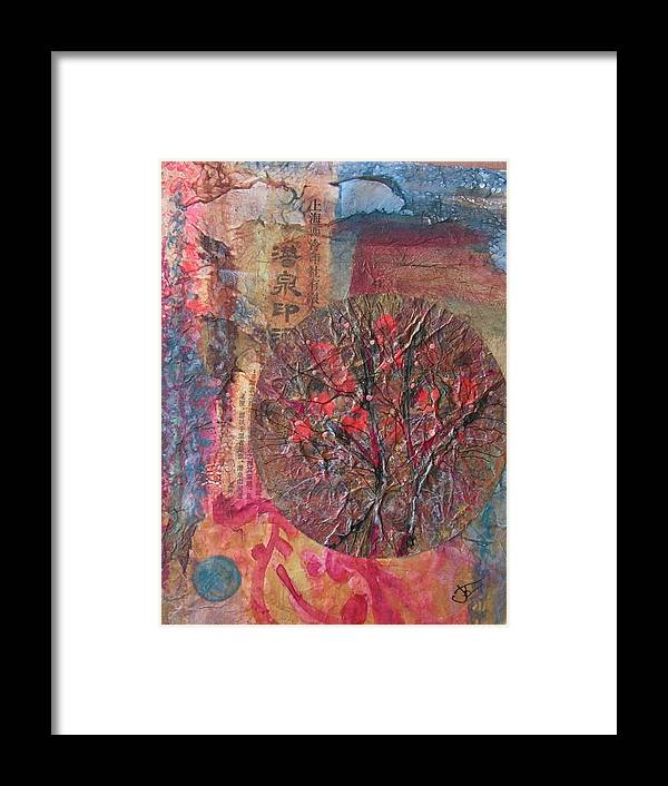 Abstract Framed Print featuring the painting Global Series 4 by John Vandebrooke