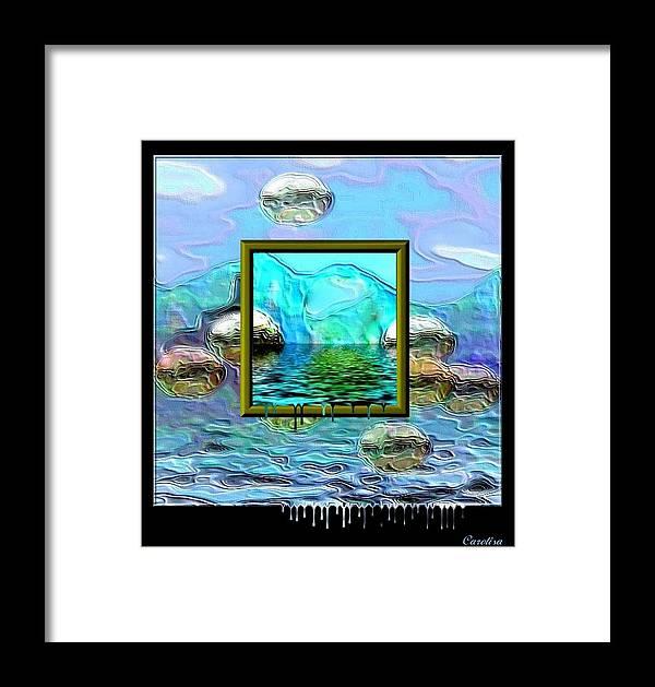 Water Framed Print featuring the digital art Global Warming by Carola Ann-Margret Forsberg