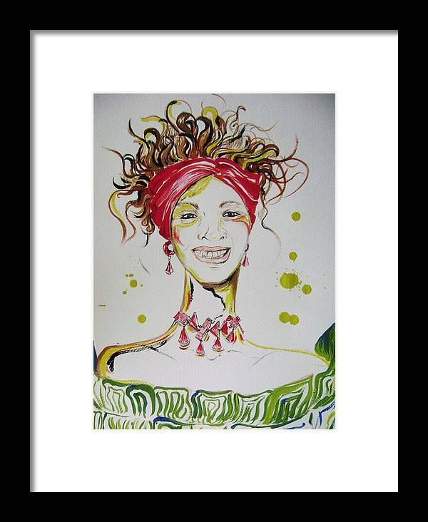 Gloria Gadea Framed Print featuring the painting Gloria De Mi Vida by David Alvarado