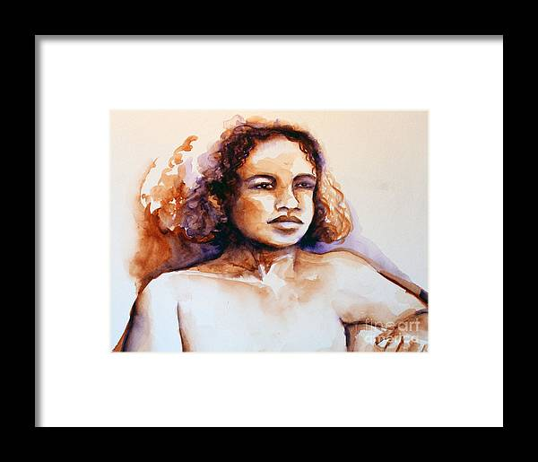 Gloria Framed Print featuring the painting Gloria by Elizabeth York
