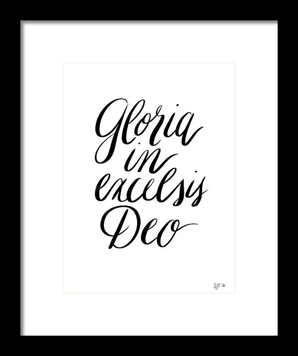 Gloria In Excelsis Deo Black And White