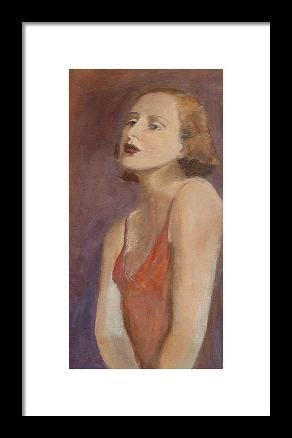 Woman Framed Print featuring the painting Gloria by Roann Elias