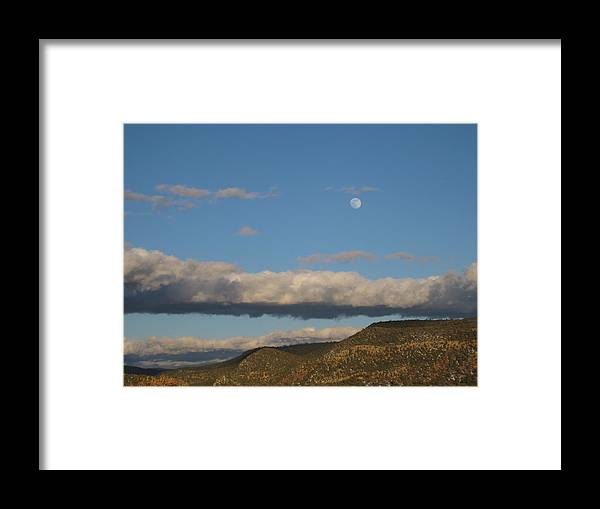 Landscape Framed Print featuring the photograph Glorietta Moon by Thor Sigstedt