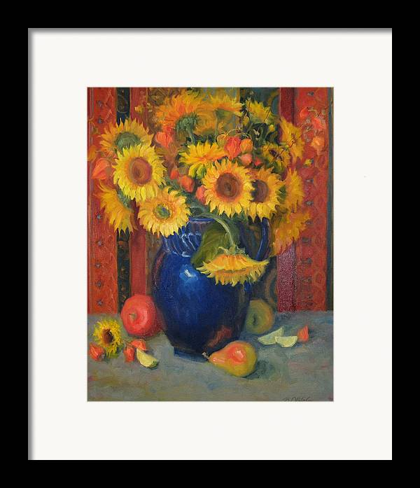 Still Life Framed Print featuring the painting Glorioso by Bunny Oliver