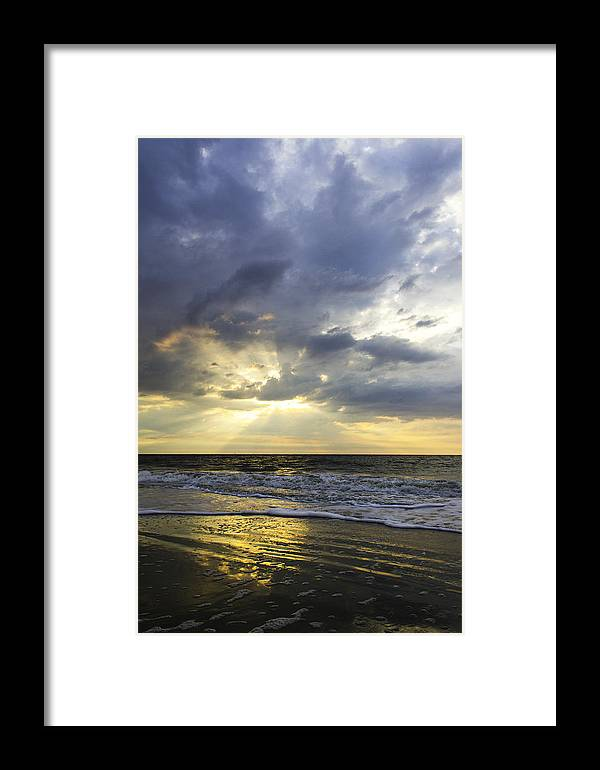 God Rays Framed Print featuring the photograph Glorious Beginning by Elizabeth Eldridge