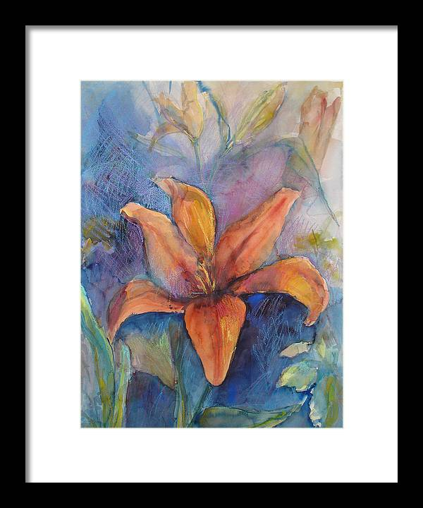 Lily Framed Print featuring the painting Glorius Lily by Joyce Kanyuk
