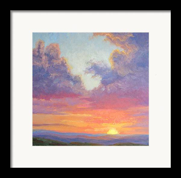 Sunset Framed Print featuring the painting Glory Of The Western Sky by Bunny Oliver