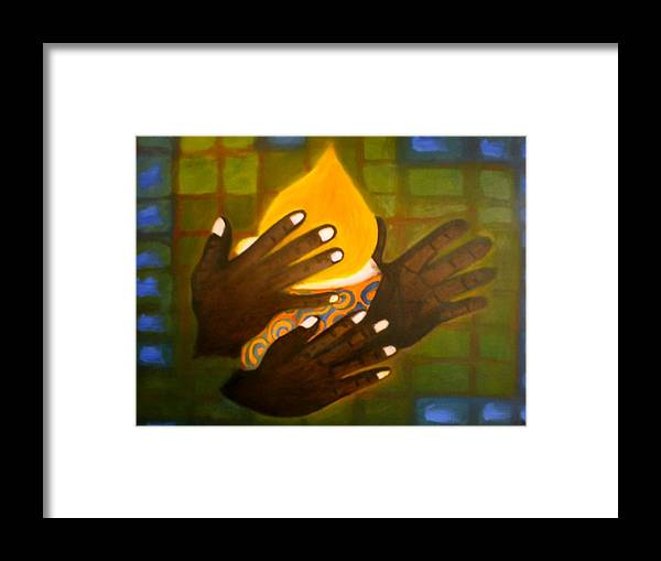 Glory Framed Print featuring the painting Glory by Philip Okoro