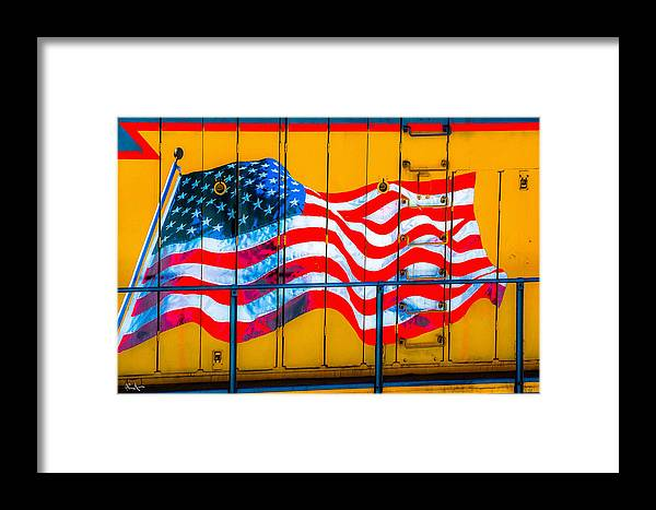 American Flag Framed Print featuring the photograph Glory Train by Dean Arneson
