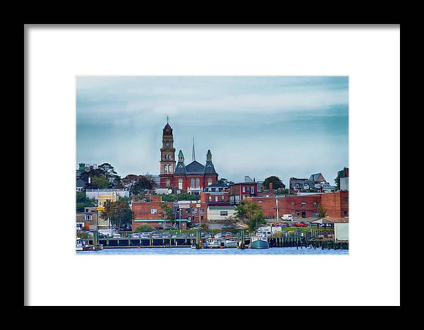 Gloucester Framed Print featuring the photograph Gloucester Harbour by Tom Gari Gallery-Three-Photography