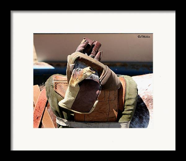 Rodeo Framed Print featuring the photograph Glove And Riggin.. by Carol Miller