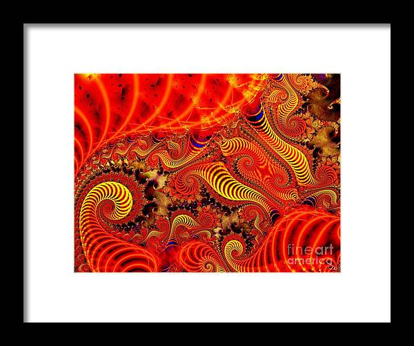 Coils Framed Print featuring the digital art Glow Coils by Ron Bissett