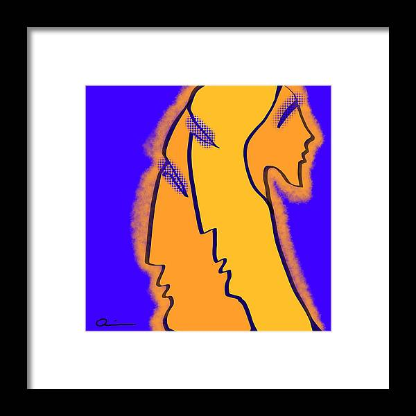 Faces Framed Print featuring the digital art Glow by Jeff Quiros
