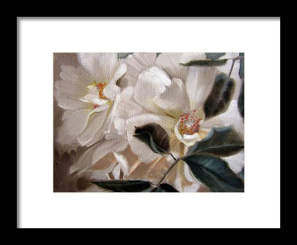 Floral Roses Framed Print featuring the painting Glow by Patrick McClintock