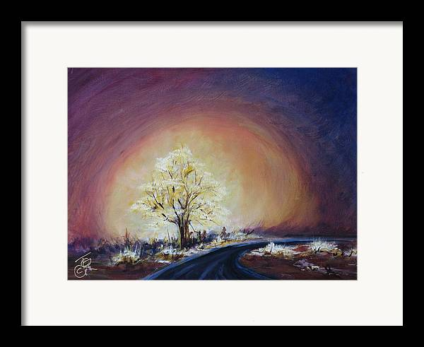 Mystic Framed Print featuring the painting Glow by Thomas Restifo