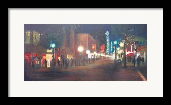 Downtown Framed Print featuring the painting Glow by Victoria Heryet