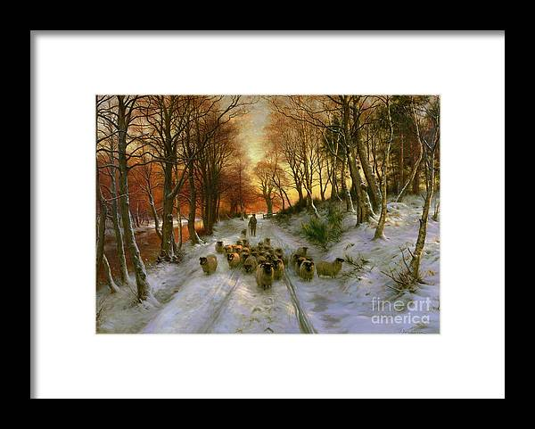 Glowed Framed Print featuring the painting Glowed with Tints of Evening Hours by Joseph Farquharson