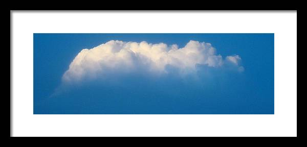 Cloud Framed Print featuring the photograph Glowing Cloud One by Ana Villaronga