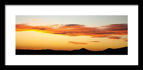 Sunset Framed Print featuring the photograph Glowing Sunset One by Ana Villaronga