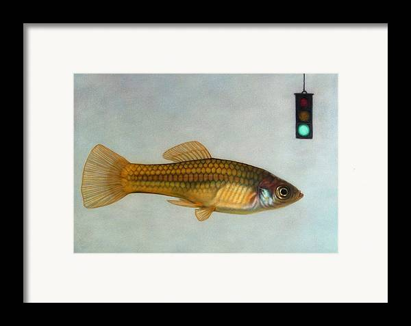 Fish Framed Print featuring the painting Go Fish by James W Johnson
