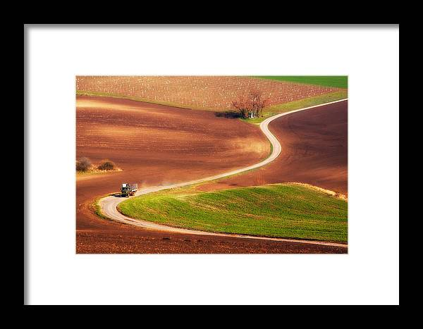 Landscape Framed Print featuring the photograph Go Work! by Fproject - Przemyslaw Kruk