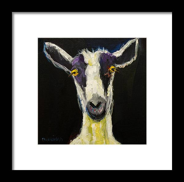 Goat Framed Print featuring the painting Goat Gloat by Diane Whitehead