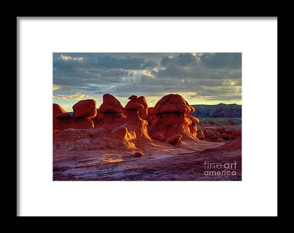Utah Framed Print featuring the photograph Goblins Watching Sunset by Kenneth Eis