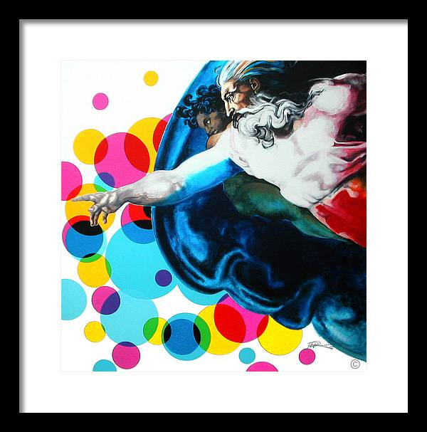 Classic Framed Print featuring the painting God by Jean Pierre Rousselet