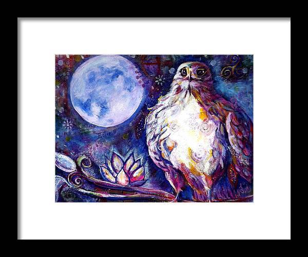 Goddess Framed Print featuring the painting Goddes Hawk by Goddess Rockstar