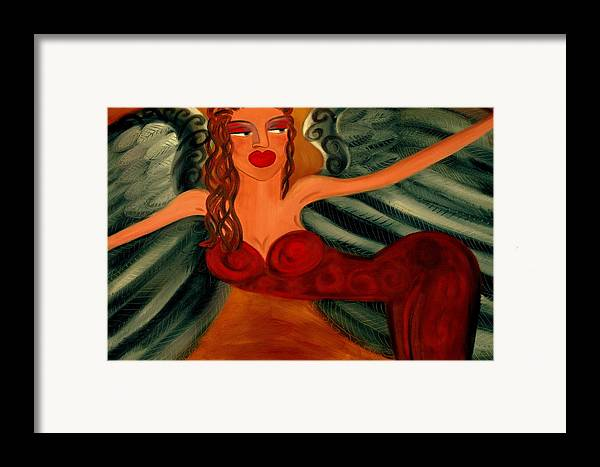 Angel Artwork Framed Print featuring the painting Goddess Athena by Helen Gerro