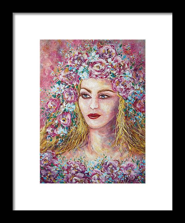 Goddess Of Good Fortune Framed Print featuring the painting Goddess Of Good Fortune by Natalie Holland
